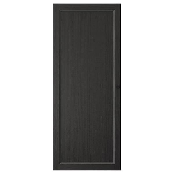 OXBERG Door, black-brown, 40x97 cm