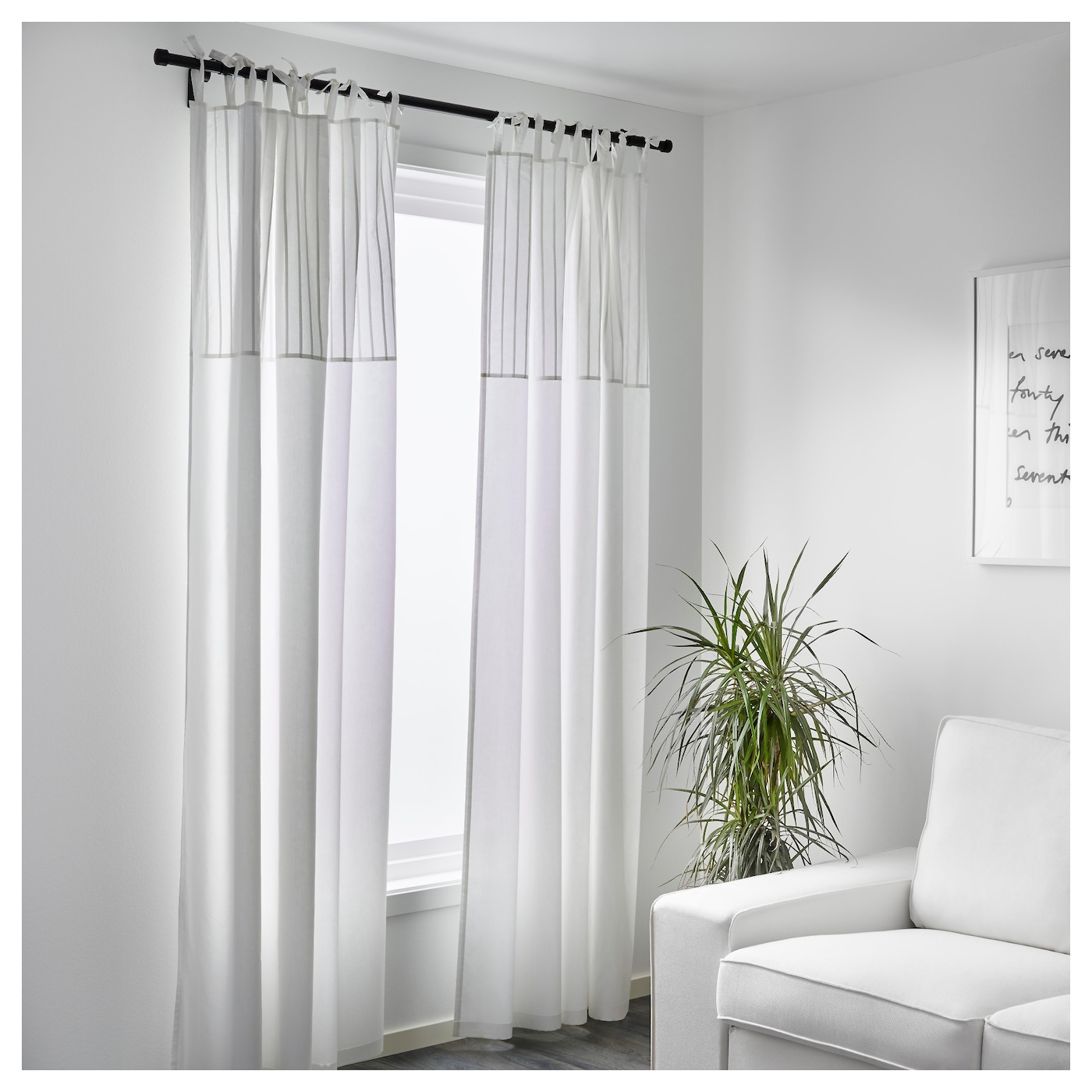 P rlblad curtains 1 pair white 145x250 cm ikea for White curtains ikea