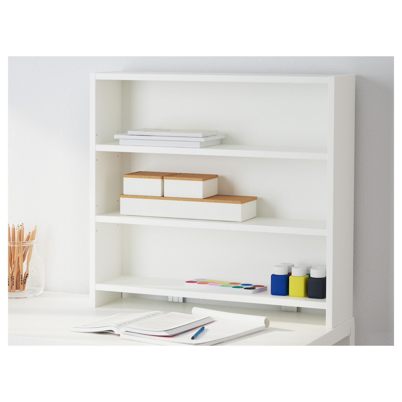 P hl desk top shelf white green 64x60 cm ikea - Etagere a poser sur bureau ...