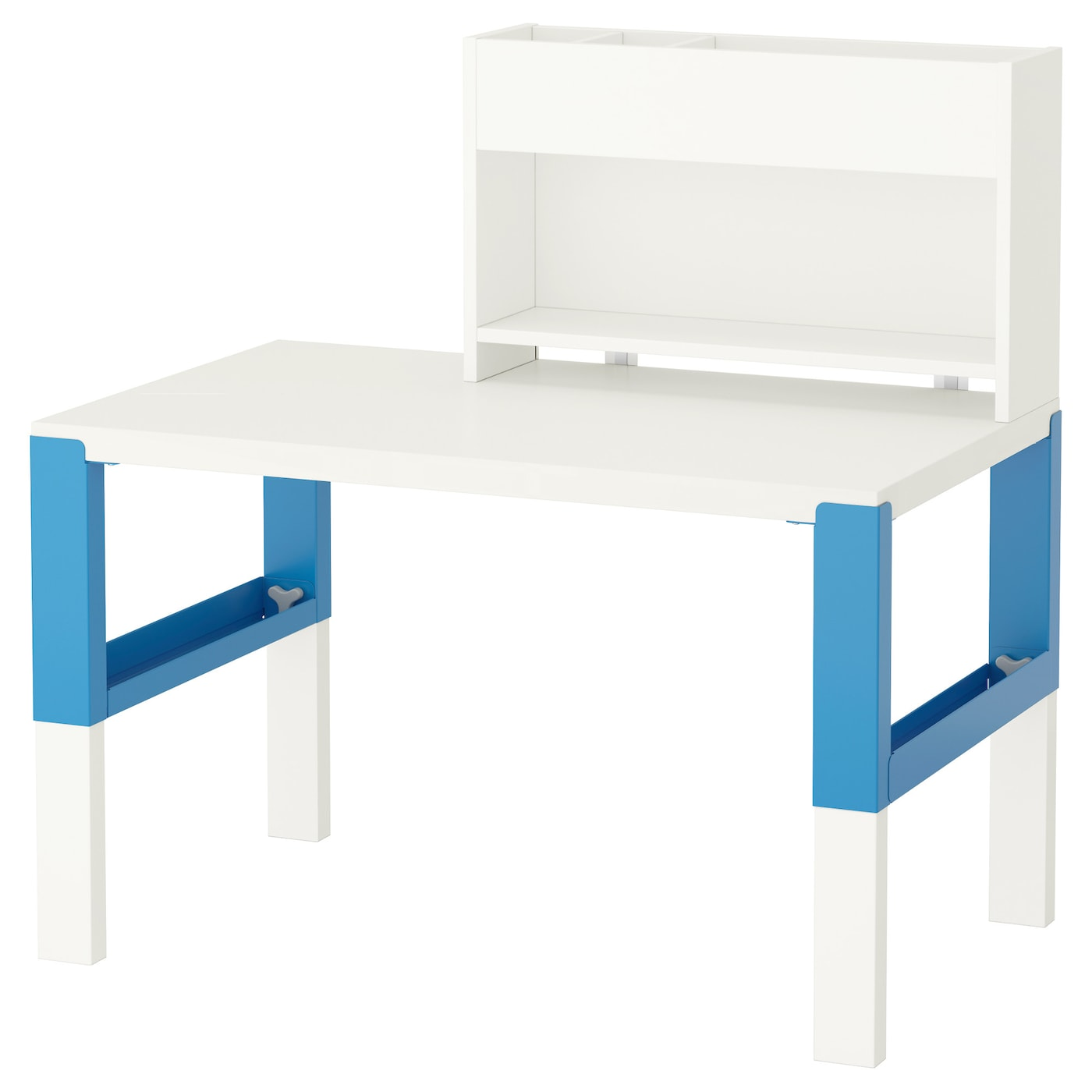 p hl desk with add on unit white blue 96x58 cm ikea