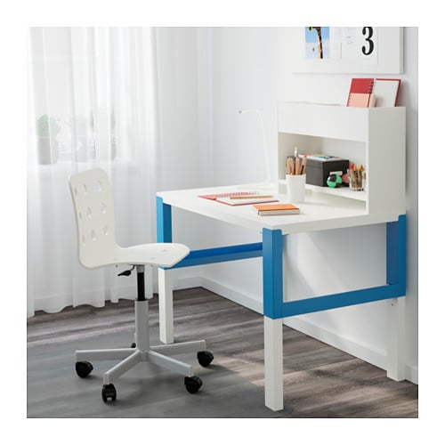 p hl desk with add on unit white blue 96x58 cm ikea. Black Bedroom Furniture Sets. Home Design Ideas