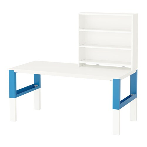 IKEA PÅHL desk with shelf unit
