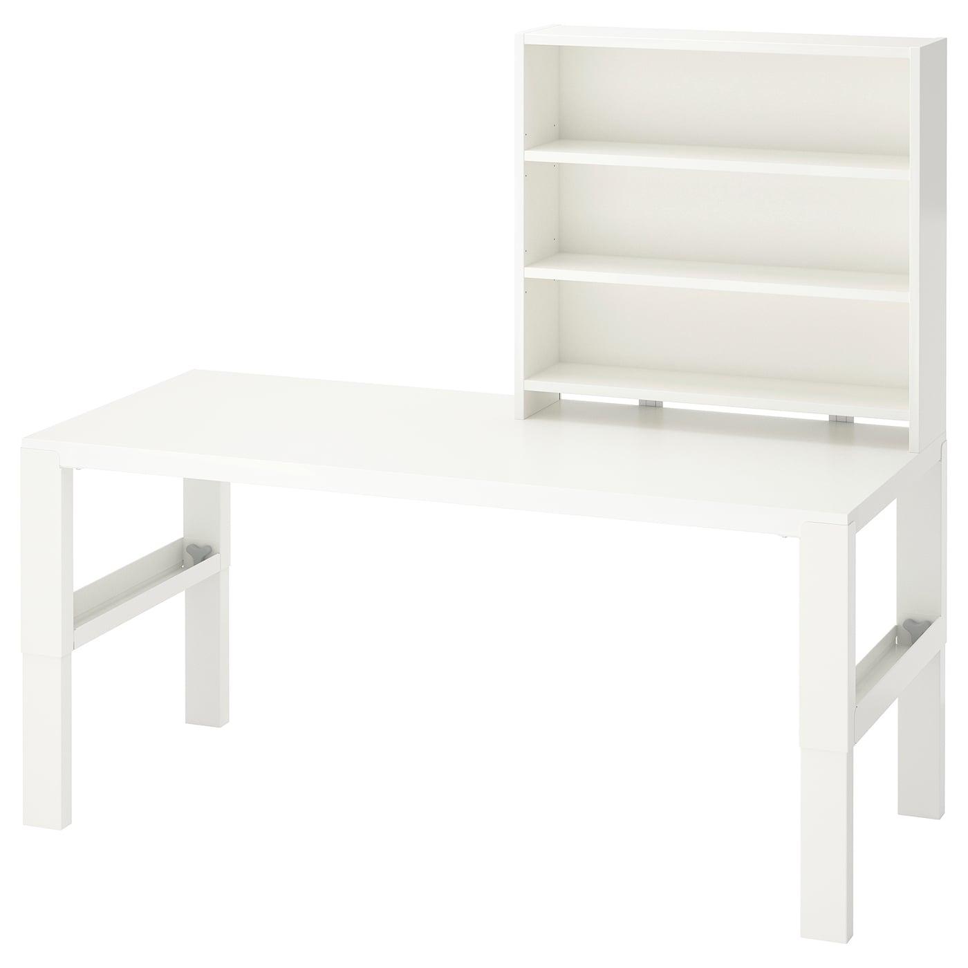PÅHL white, Desk with shelf unit
