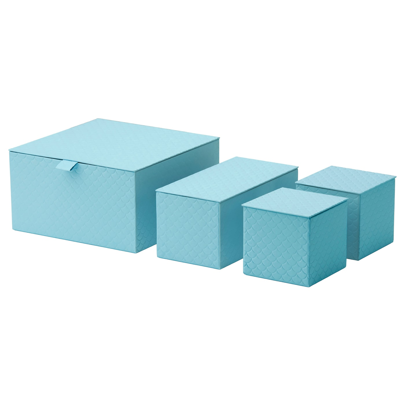 pallra box with lid set of 4 light blue ikea. Black Bedroom Furniture Sets. Home Design Ideas