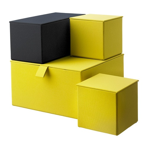PALLRA Box with lid, set of 4 IKEA