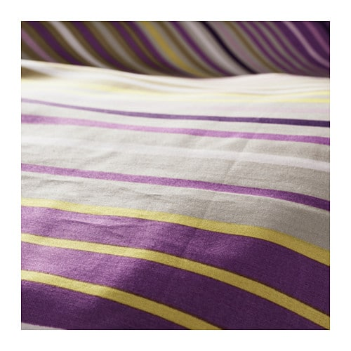 IKEA PALMLILJA quilt cover and 2 pillowcases Concealed press studs keep the quilt in place.