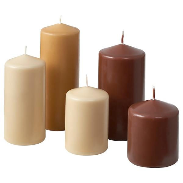 PANERAD Unscented block candle, set of 5, natural
