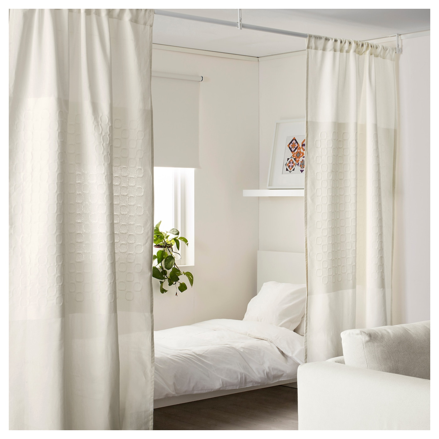 papyruss v curtain room divider white 120 x 250 cm ikea. Black Bedroom Furniture Sets. Home Design Ideas