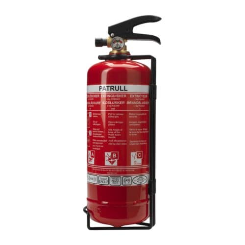PATRULL Fire extinguisher, dry powder IKEA This fire extinguisher is suitable for small fires involving e.  g.