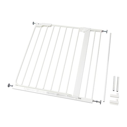 PATRULL KLÄMMA Safety gate IKEA The gate is easy to install and requires no drilling.