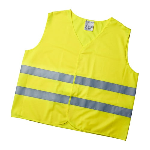 PATRULL Reflecting vest IKEA Wearing this brightly coloured reflecting vest makes you more visible when you're out walking, bicycling, etc.