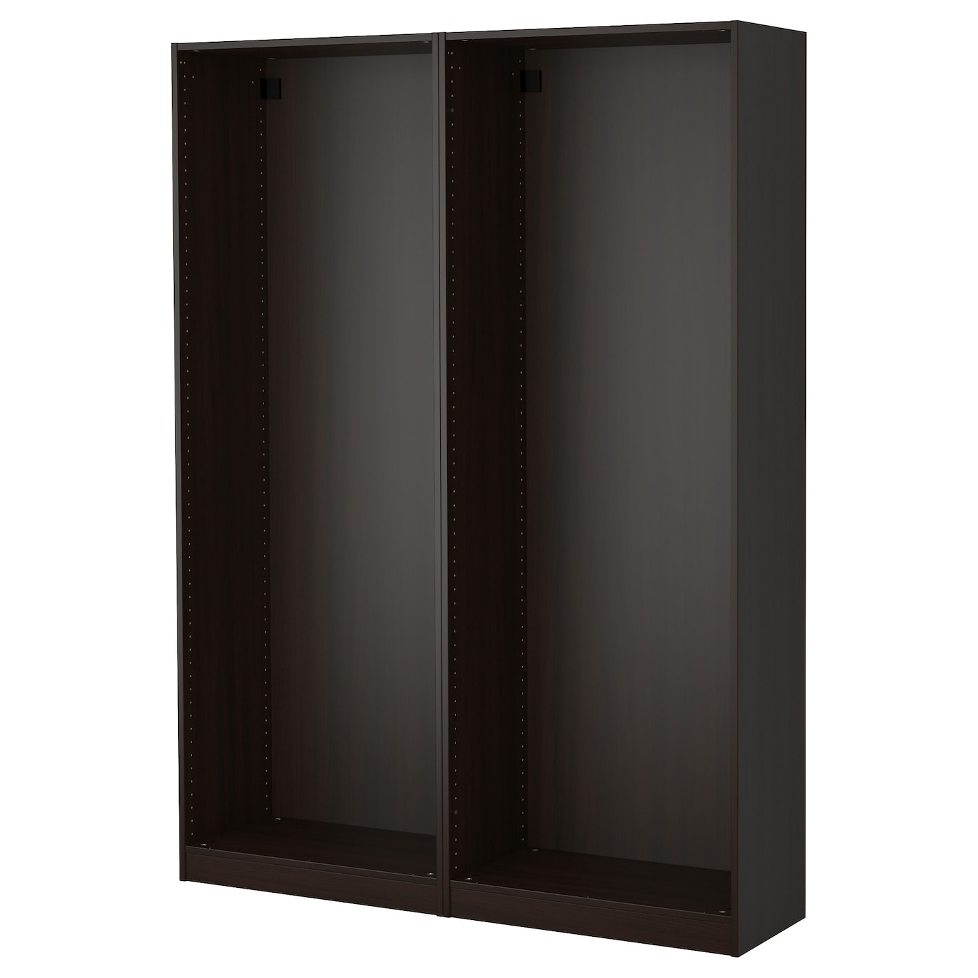 PAX 2 wardrobe frames Black brown 150x35x201 cm IKEA
