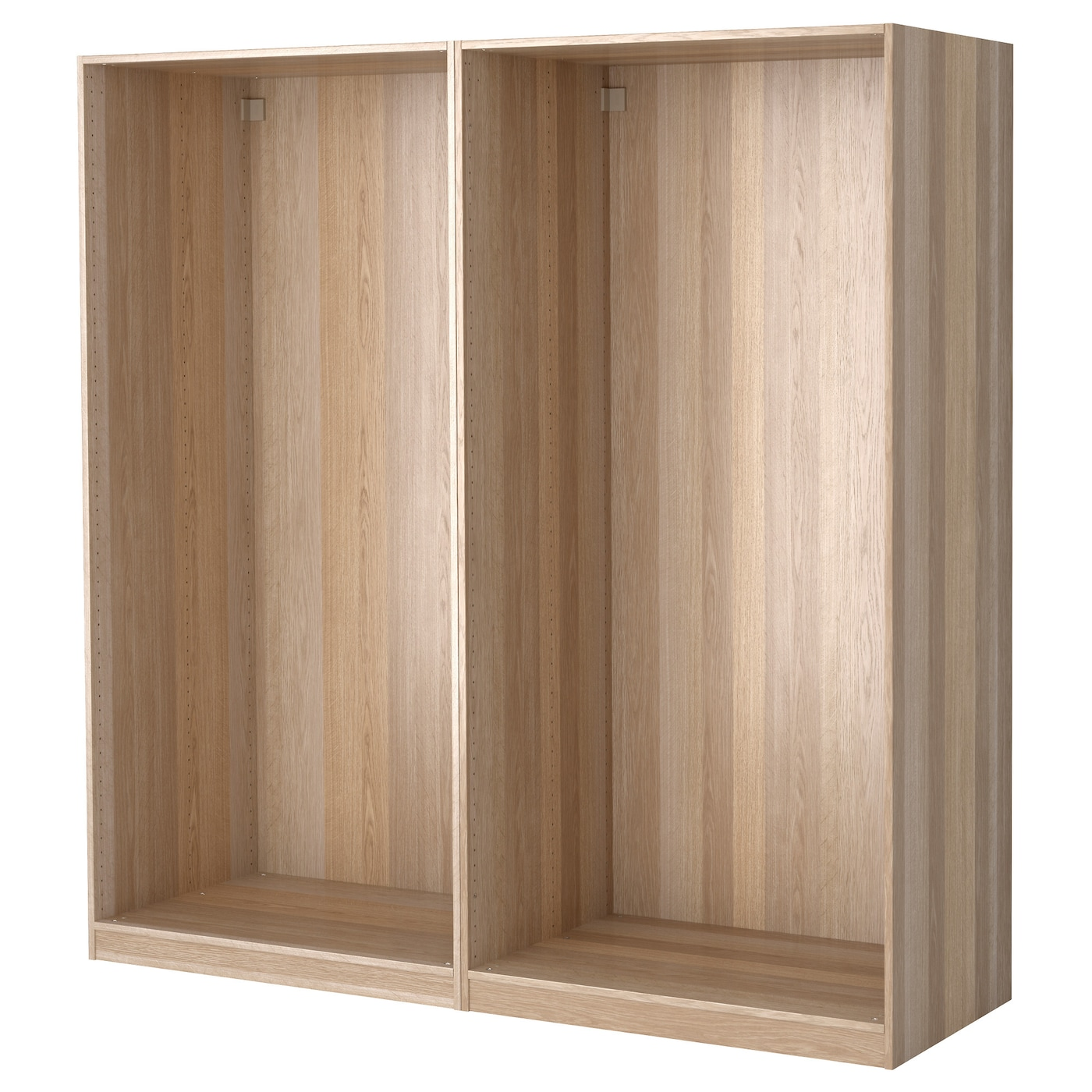 Pax 2 wardrobe frames white stained oak 200x58x201 cm ikea - Armoire chambre 120 cm largeur ...
