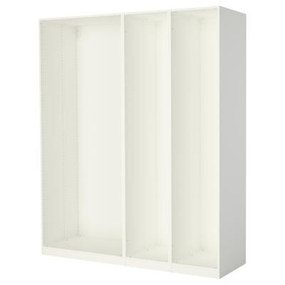 PAX 3 wardrobe frames, white, 200x58x236 cm