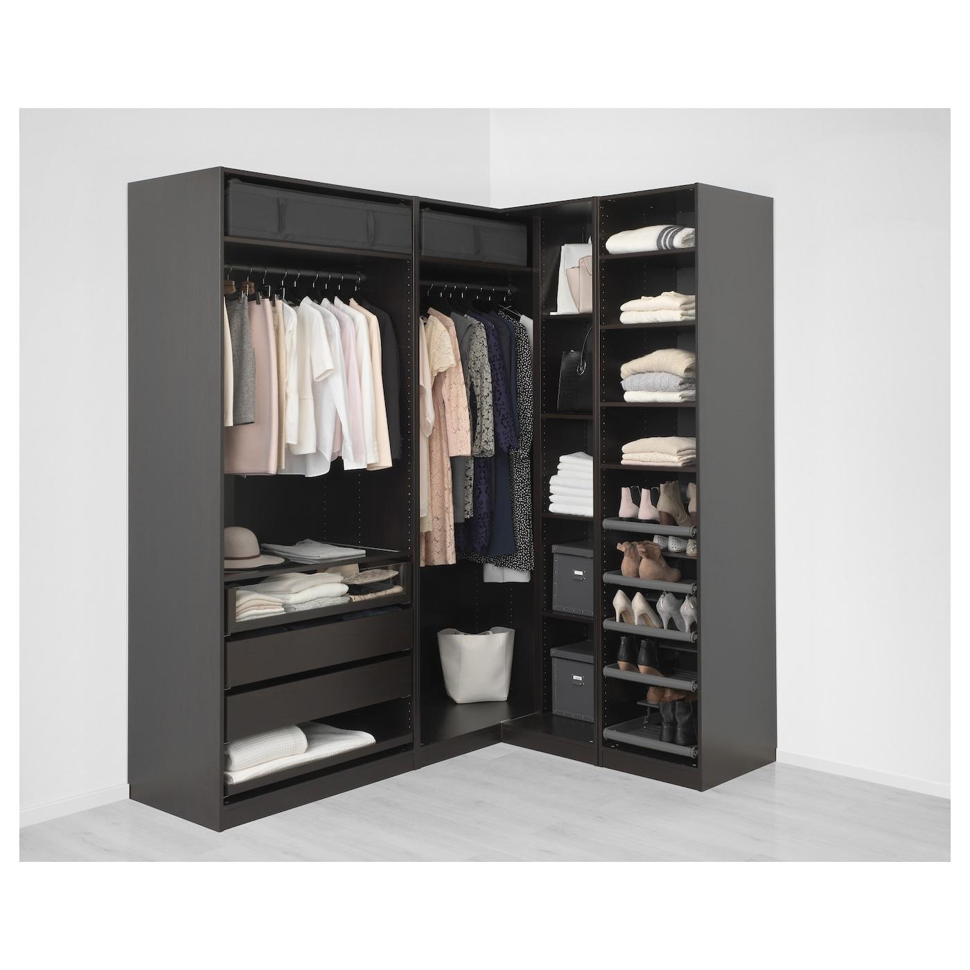 pax add on corner unit with 4 shelves black brown 53 x 35 x 236 cm rh ikea com corner tv unit 2 shelves corner unit bookshelves