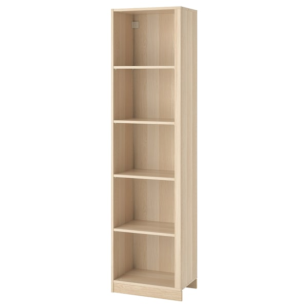 PAX Add-on corner unit with 4 shelves, white stained oak effect, 53x35x201 cm