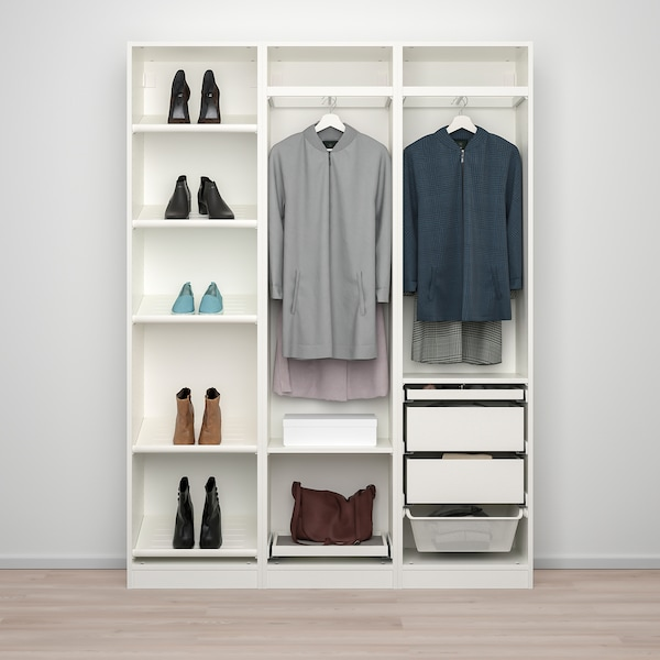 PAX / BERGSBO/VIKEDAL wardrobe combination white/mirror glass 150.0 cm 38.0 cm 201.2 cm