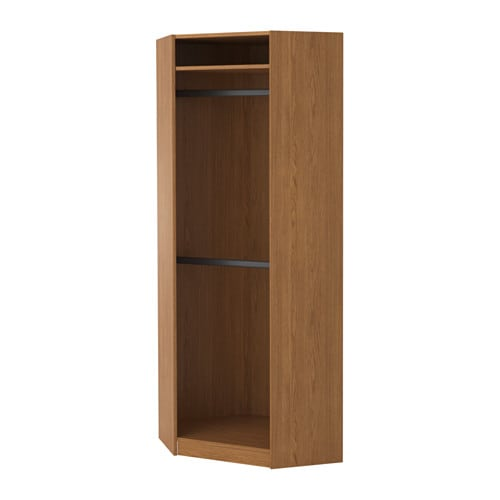 pax corner wardrobe oak effect hemnes white stain 73 73x201 cm ikea. Black Bedroom Furniture Sets. Home Design Ideas