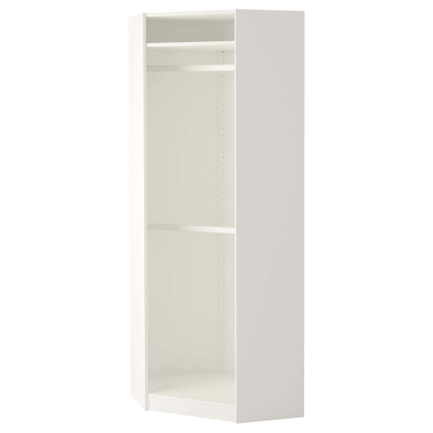 pax corner wardrobe white ballstad white 73 73x201 cm ikea. Black Bedroom Furniture Sets. Home Design Ideas