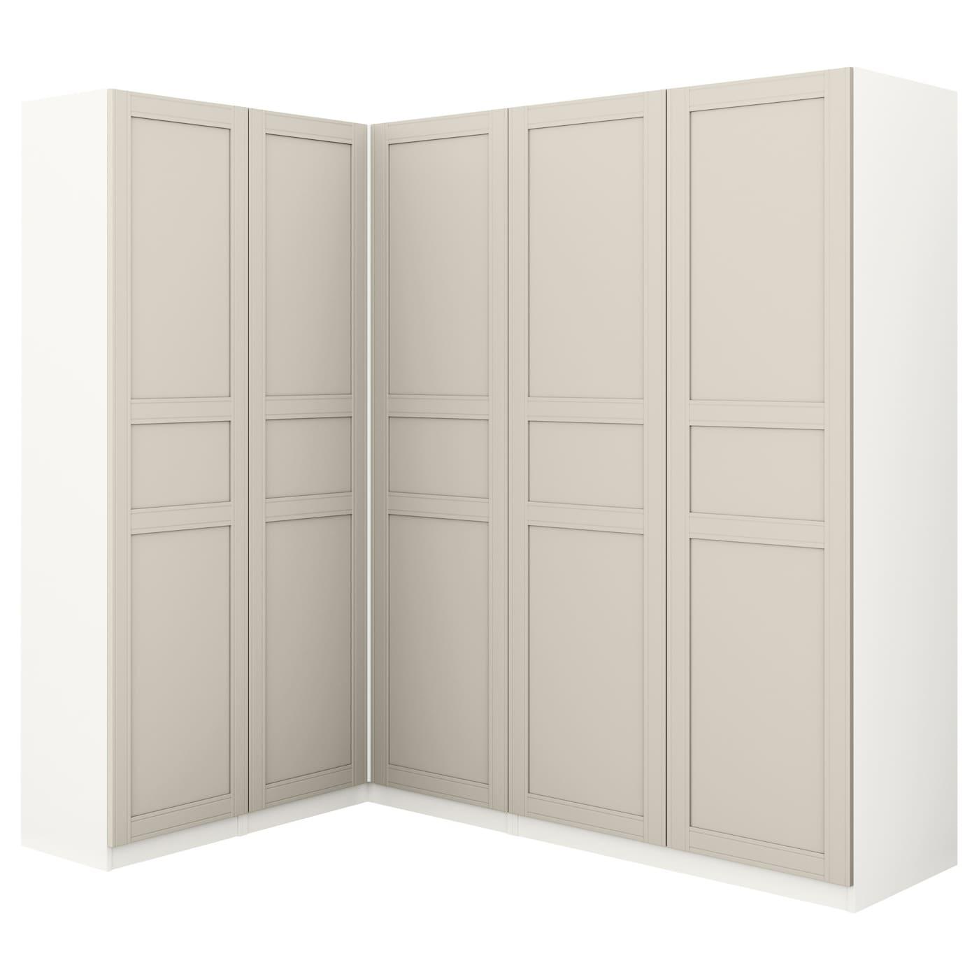 pax corner wardrobe white flisberget light beige 160 188 x 201 cm ikea. Black Bedroom Furniture Sets. Home Design Ideas