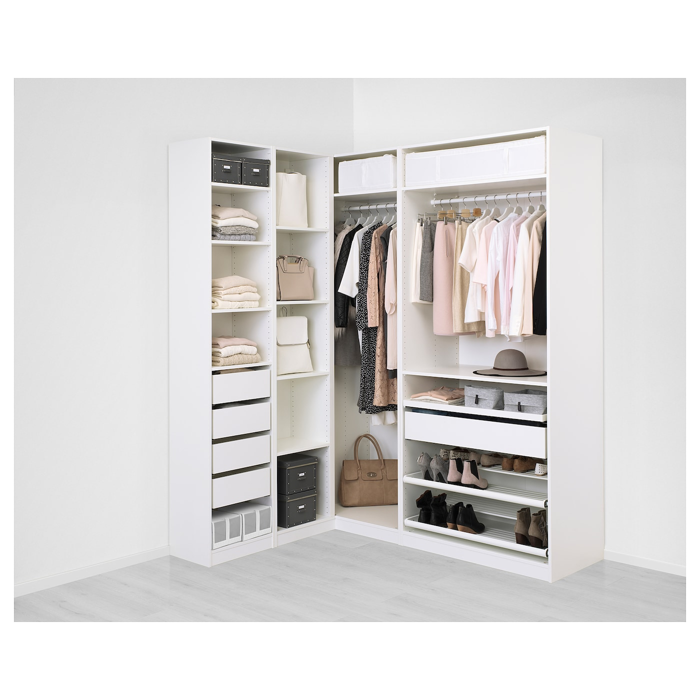 Pax corner wardrobe white flisberget light beige 160 188 x for Ikea cabina armadio pax