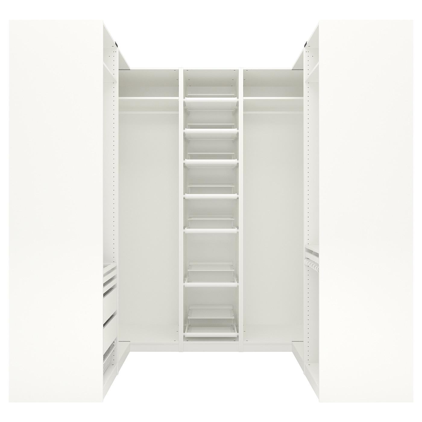 pax corner wardrobe white 160 273 160x236 cm ikea. Black Bedroom Furniture Sets. Home Design Ideas