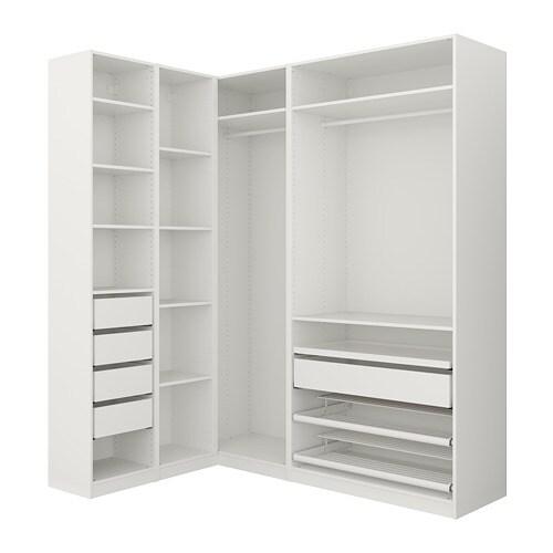 PAX Corner Wardrobe White 160/188 X 236 Cm