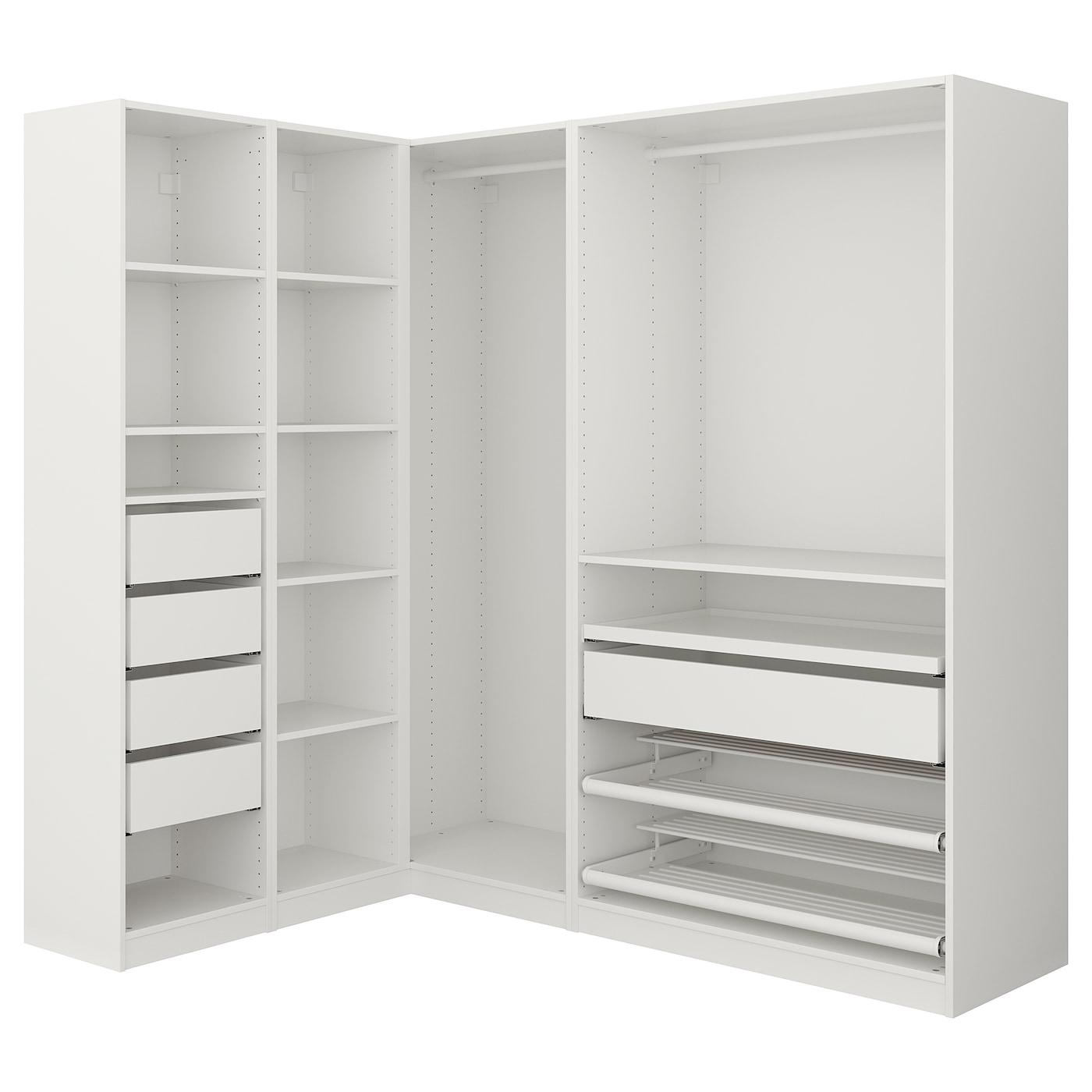 pax corner wardrobe white 160 188 x 201 cm ikea. Black Bedroom Furniture Sets. Home Design Ideas