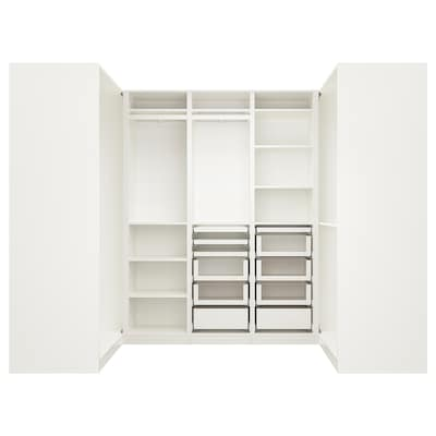 PAX corner wardrobe white 270.8 cm 201.2 cm 112.9 cm 112.9 cm