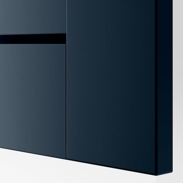 PAX / GRIMO Wardrobe combination, white/Grimo dark blue, 150x60x236 cm