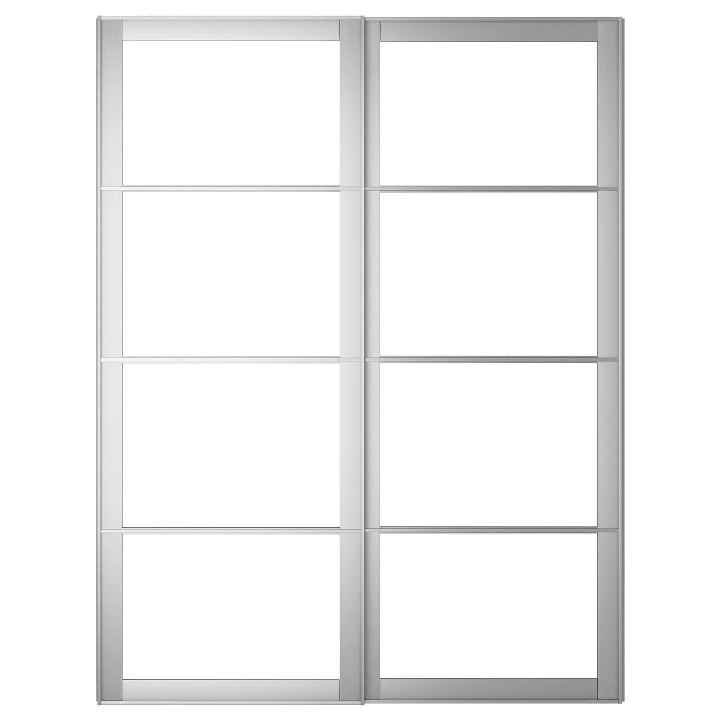 Sliding wardrobe doors ikea for Glass door frame