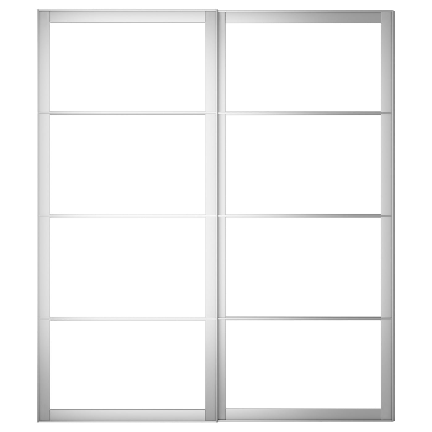 Pax Pair Of Sliding Door Frames W Rail Aluminium 200×236 Cm Ikea # Notice Montage Ikea