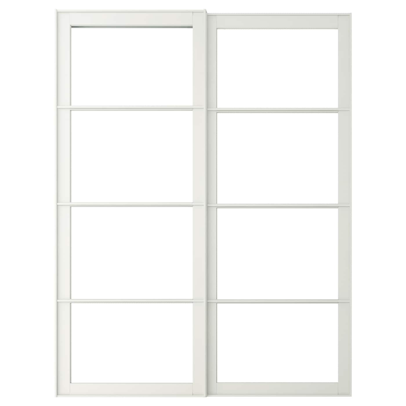 IKEA PAX pair of sliding door frames w rail