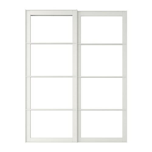 IKEA PAX pair of sliding door frames w rail  sc 1 st  Ikea & PAX Pair of sliding door frames w rail White 150x236 cm - IKEA pezcame.com