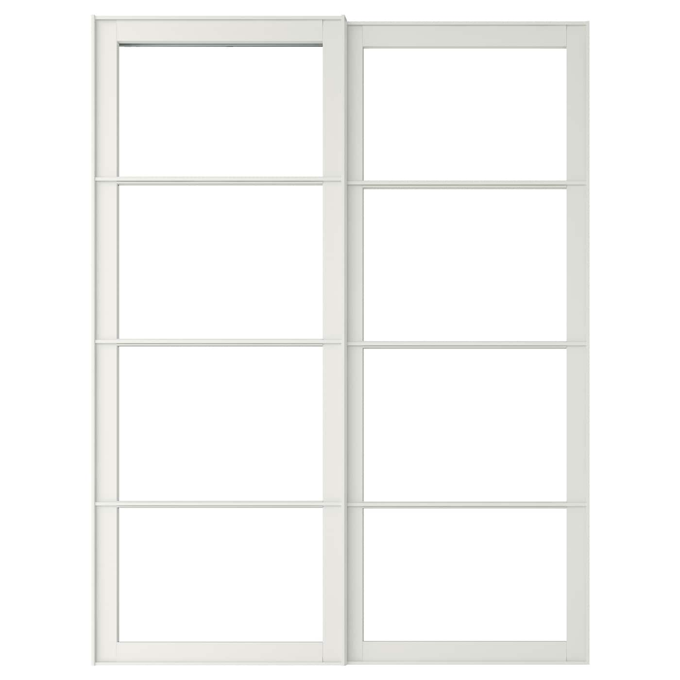 Materials ikea pax tonnes sliding doors white - Ikea Pax Pair Of Sliding Door Frames W Rail