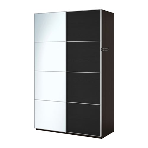 pax wardrobe black brown auli ilseng 150x66x201 cm ikea. Black Bedroom Furniture Sets. Home Design Ideas