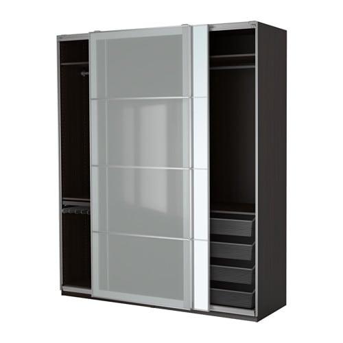 pax wardrobe black-brown/auli sekken 200x66x236 cm - ikea
