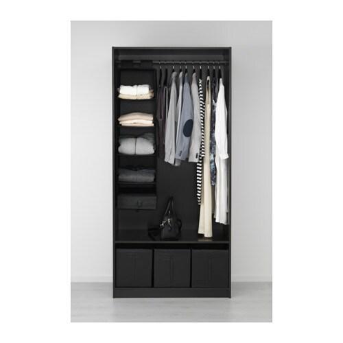 Pax wardrobe black brown ballstad white 100x60x201 cm ikea for Ikea pax planen