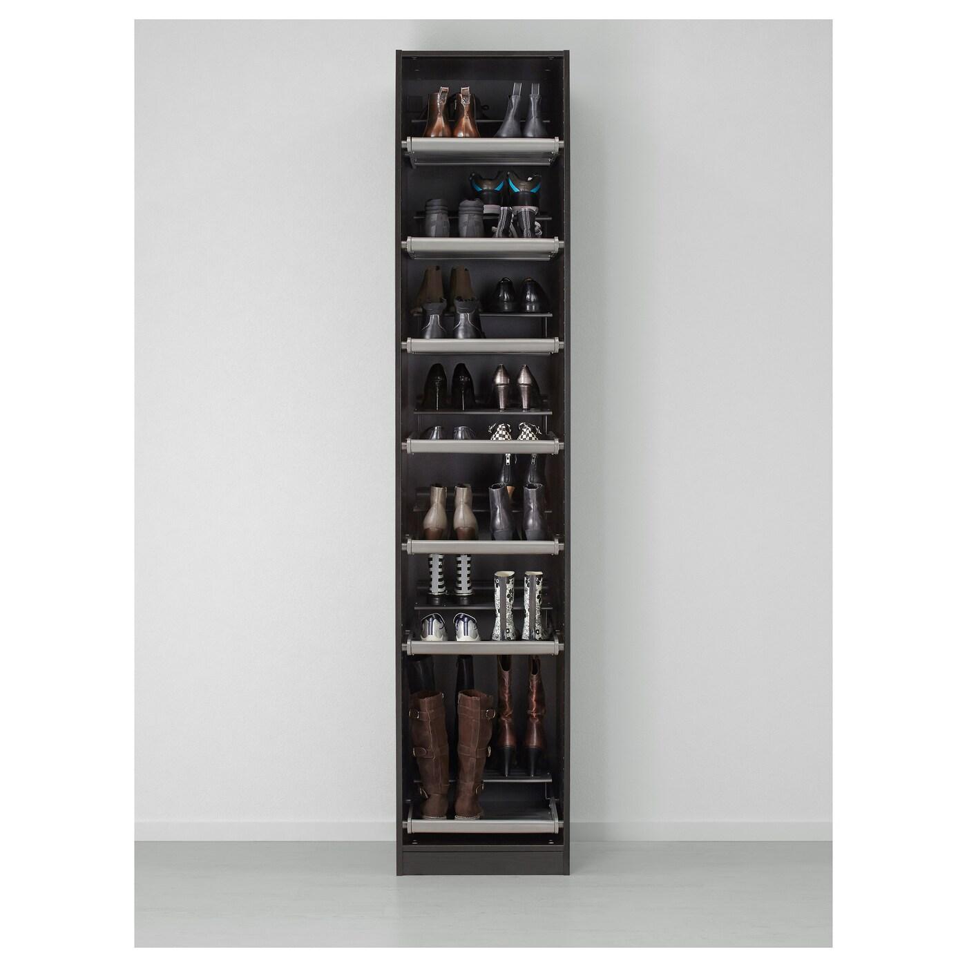 pax wardrobe black brown ballstad white 50x60x236 cm ikea. Black Bedroom Furniture Sets. Home Design Ideas