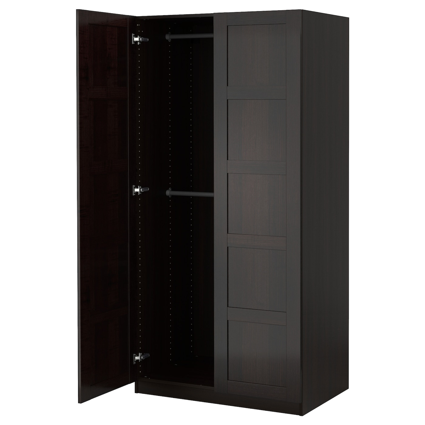 PAX Wardrobe Blackbrownbergsbo Blackbrown Xx Cm IKEA - Ikea wardrobe