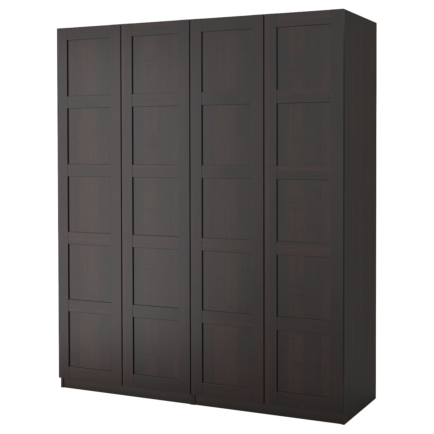 pax wardrobe black brown bergsbo black brown 200x60x236 cm ikea. Black Bedroom Furniture Sets. Home Design Ideas