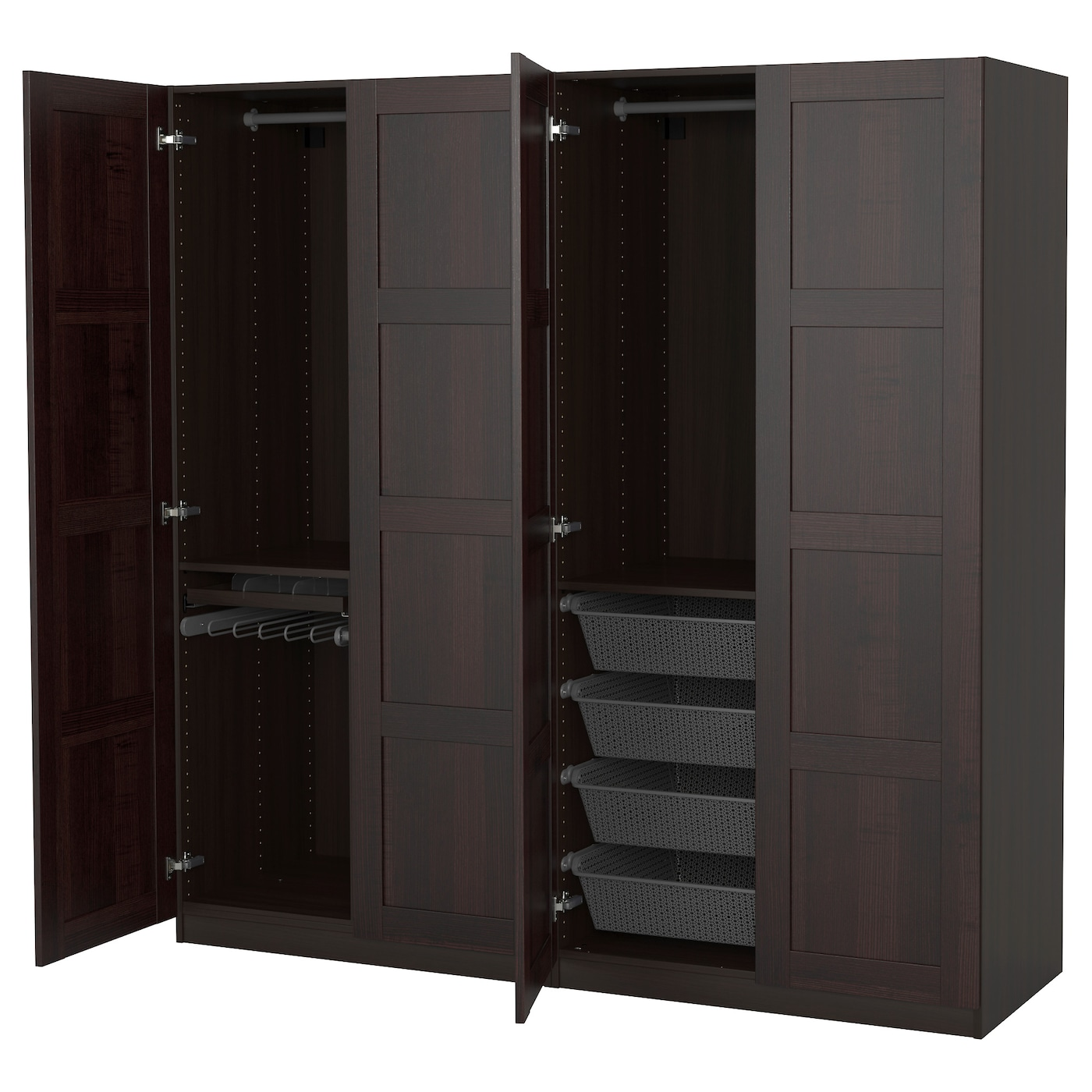 pax wardrobe black brown bergsbo black brown 200x60x201 cm. Black Bedroom Furniture Sets. Home Design Ideas