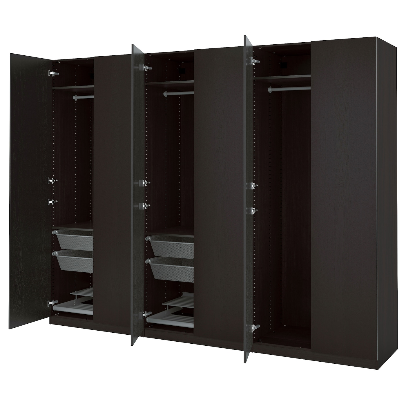 Pax wardrobe black brown nexus black brown 300x60x236 cm - Black days ikea ...