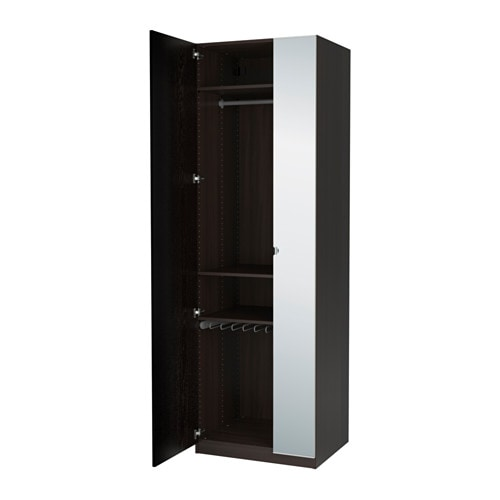 pax wardrobe black brown nexus vikedal 75x60x236 cm ikea. Black Bedroom Furniture Sets. Home Design Ideas