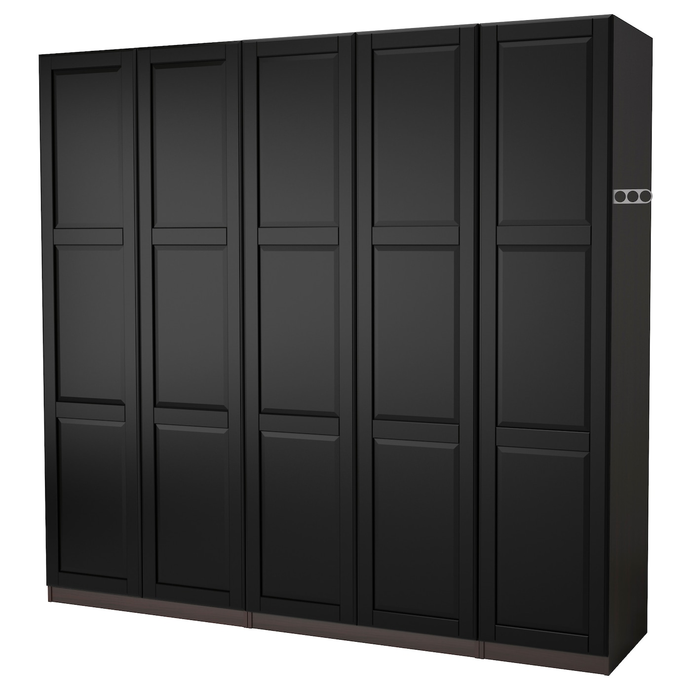 pax wardrobe black brown undredal black 250x60x201 cm ikea. Black Bedroom Furniture Sets. Home Design Ideas