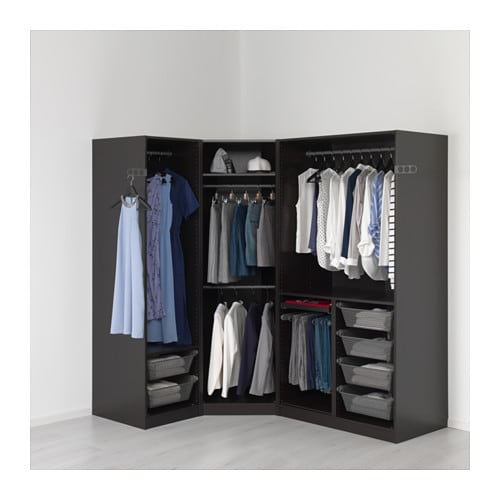 PAX Wardrobe Black-brown/undredal black 196/146x60x201 cm ...