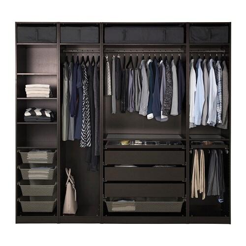 pax wardrobe black brown 250x58x236 cm ikea. Black Bedroom Furniture Sets. Home Design Ideas