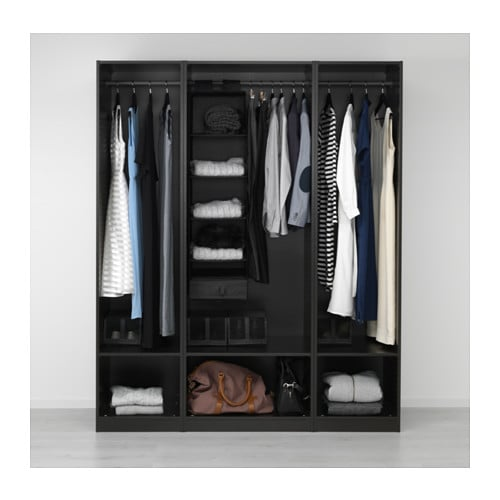 pax wardrobe black brown 175x58x201 cm ikea