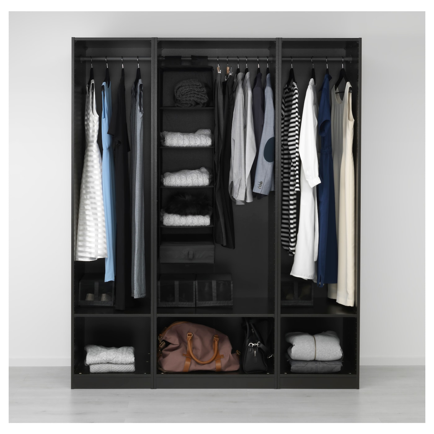 PAX Wardrobe Black-brown 175 X 58 X 201 Cm