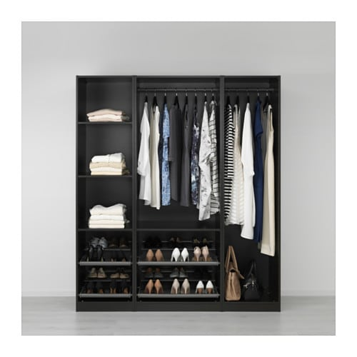 PAX Wardrobe Black-brown 175x58x201 cm - IKEA
